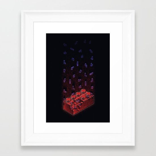 Brick Ception Framed Art Print