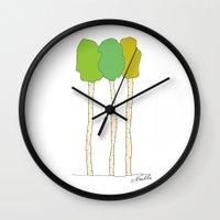 Quakie Trees Wall Clock