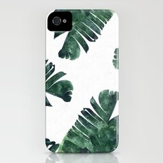 Banana Leaf Watercolor P… iPhone (4, 4s) Slim Case