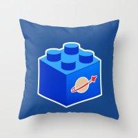 Space Lego Throw Pillow