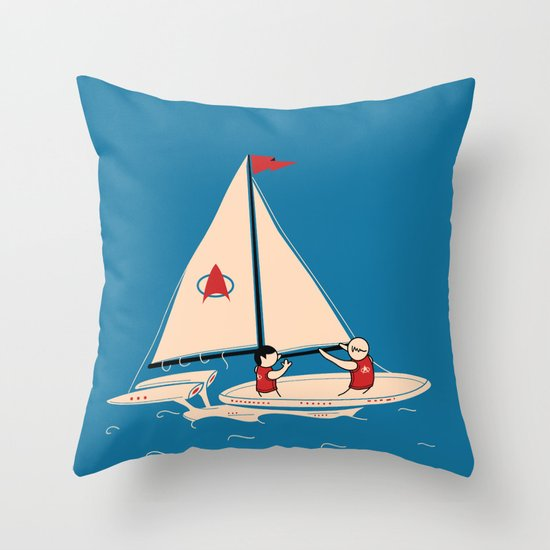 Sailing Towards Future Unknowns Throw Pillow