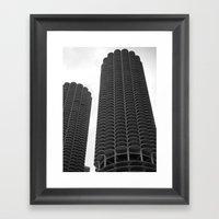 Chicago Marina Towers Framed Art Print