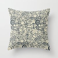 Honolulu hoops indigo cream Throw Pillow