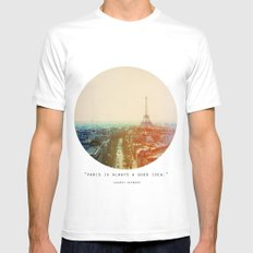Iron Lady White Mens Fitted Tee SMALL