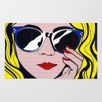 Pop Art Glamour Girl Rug