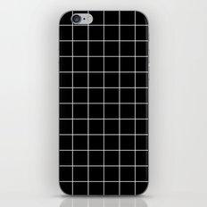 Black White Grid iPhone & iPod Skin