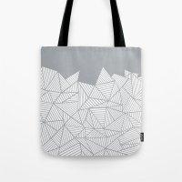Abstract Mountain Grey Tote Bag