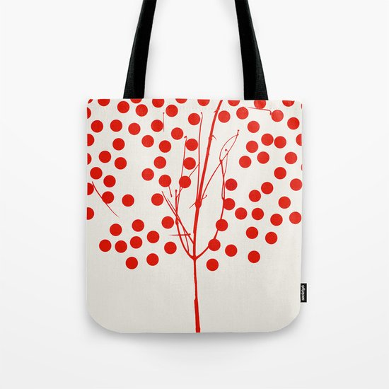 Tree of Life Red Tote Bag