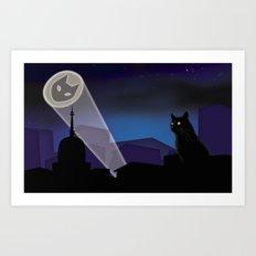 BatCat Art Print