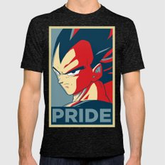 Vegeta's Pride Mens Fitted Tee Tri-Black SMALL