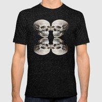 Skull Pattern Mens Fitted Tee Tri-Black SMALL