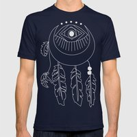 moon dreamcatcher Mens Fitted Tee Navy SMALL