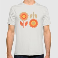 Aster Mens Fitted Tee Silver SMALL