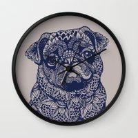MANDALA OF PUG Wall Clock