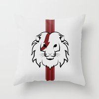 Monarch (Black & Red) Throw Pillow