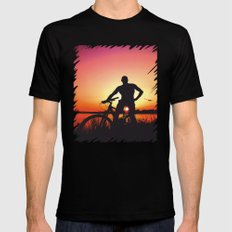 sunset magic Mens Fitted Tee Black SMALL