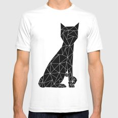 Eleven Quads Cat SMALL Mens Fitted Tee White