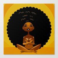 Spiritual AfroGirl Canvas Print