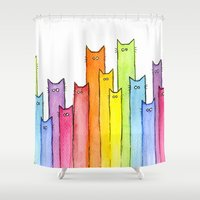 Rainbow of Cats Shower Curtain