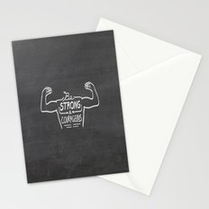 Be Strong & Courageous (White Version) Stationery Cards