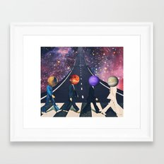 Across The Galaxy Framed Art Print