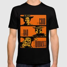 The Good, the bad and the wookiee Mens Fitted Tee Black SMALL