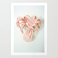 Candy Cane Delight Art Print