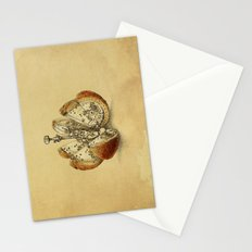 Steampunk Orange (sepia) Stationery Cards