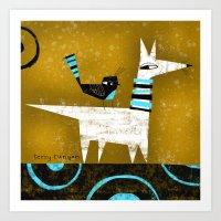 YELLOW SKY Art Print