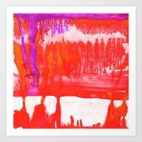 Dip Dye Tangelo Art Print