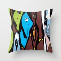 The SECRET MEETING Of Th… Throw Pillow