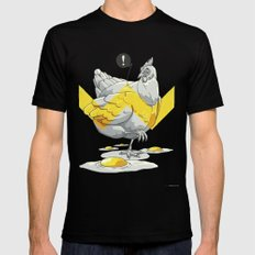 Chicken in the kitchen Black SMALL Mens Fitted Tee