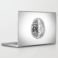brain Laptop & iPad Skins featuring Brain by RomaM