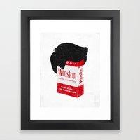 Smoker's Face Framed Art Print