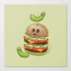 Evil Burger Canvas Print