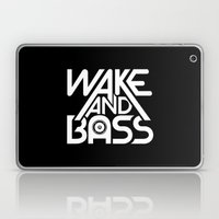 Wake And Bass (White) Laptop & iPad Skin
