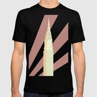 Chrysler Building Mens Fitted Tee Black SMALL