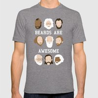 Beards Are Awesome Mens Fitted Tee Tri-Grey SMALL