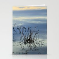 Blue graphics reflections Stationery Cards