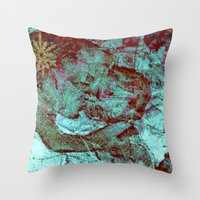 Blue Madonna And Child Throw Pillow
