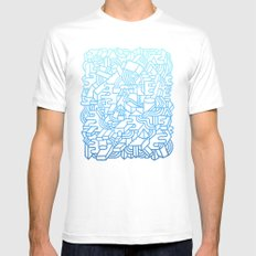 Wave Machine White Mens Fitted Tee SMALL
