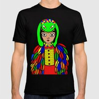 Quetzacoatl Mens Fitted Tee Black SMALL