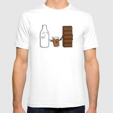 Milk + Chocolate White Mens Fitted Tee SMALL