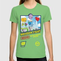 Adventure Time Balloon F… Womens Fitted Tee Grass SMALL