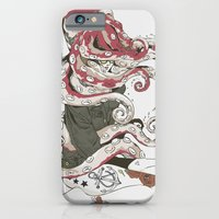 lady iPhone & iPod Cases featuring My head is an octopus by Huebucket