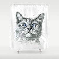 Cross Eyed Cat G122 Shower Curtain