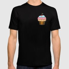Cupcake Mens Fitted Tee Black SMALL