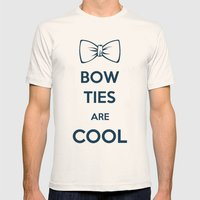Bow Ties Are Cool Mens Fitted Tee Natural SMALL