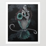 Art Print featuring Owl Eye Key Hole by Annelies202