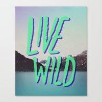 Live Wild: Alaska Canvas Print